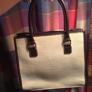 Ralph Lauren Canvas Bag with Leather Straps